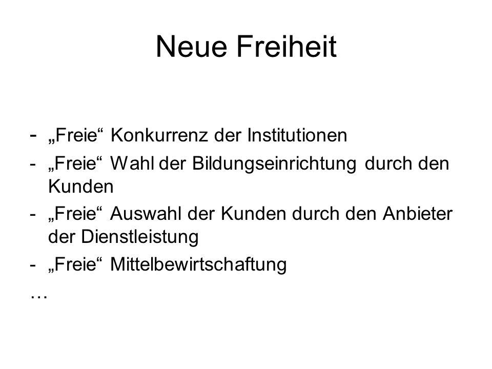 """Neue Freiheit """"Freie Konkurrenz der Institutionen"""
