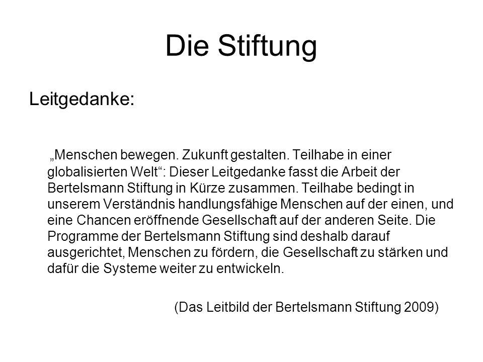 Die Stiftung Leitgedanke: