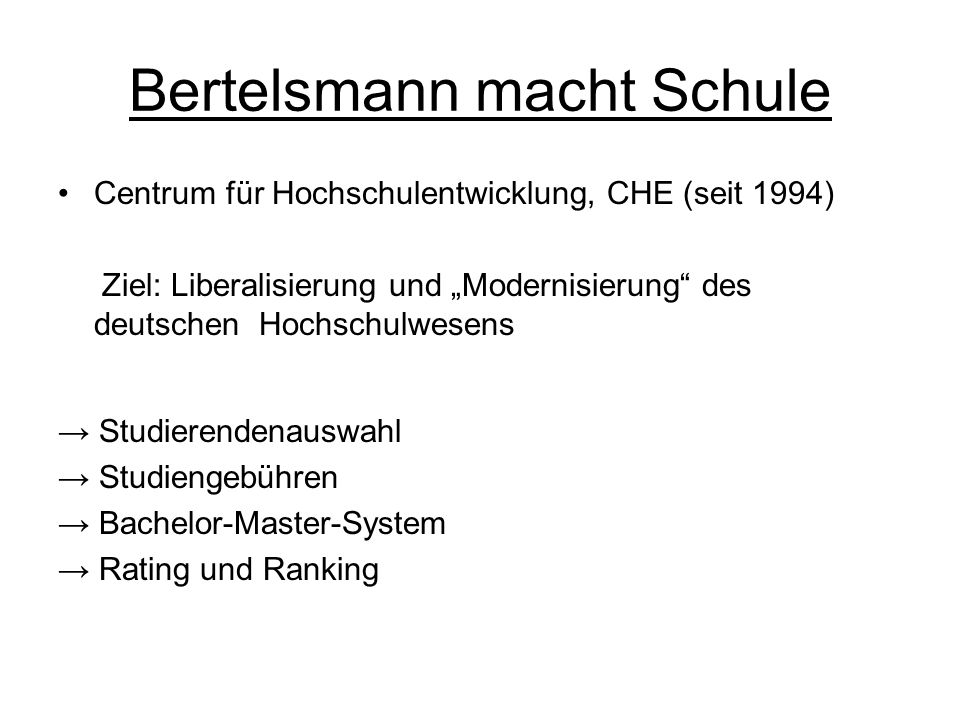 Bertelsmann macht Schule