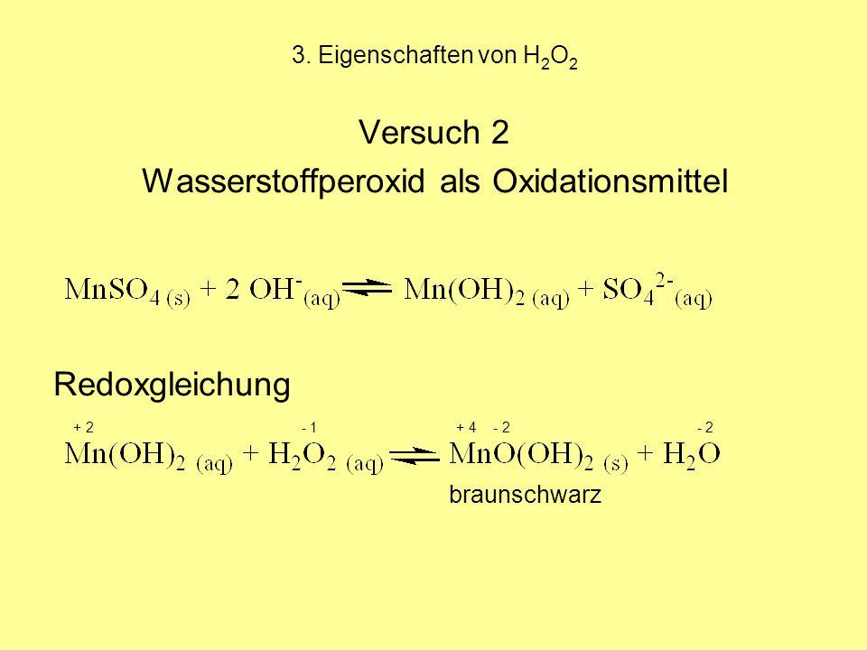 Wasserstoffperoxid als Oxidationsmittel