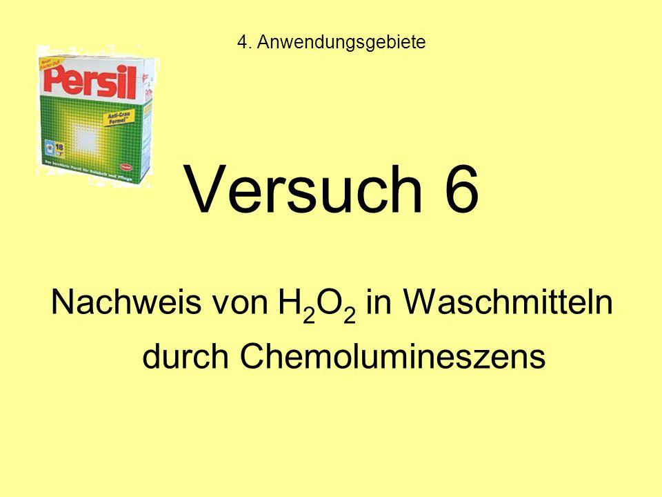 Nachweis von H2O2 in Waschmitteln durch Chemolumineszens