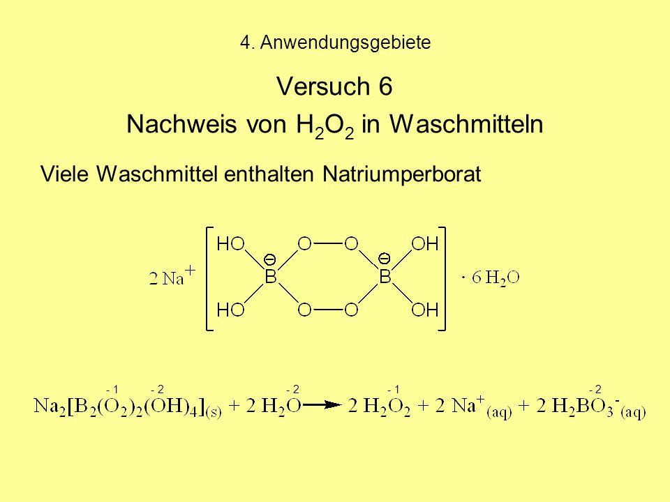 Nachweis von H2O2 in Waschmitteln