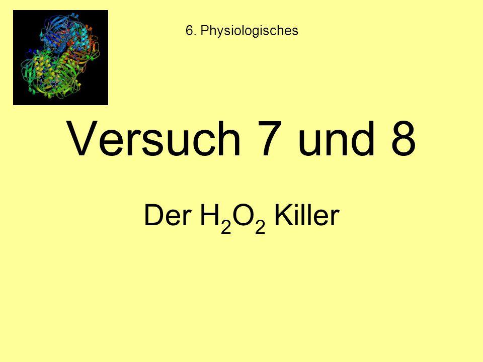 6. Physiologisches Versuch 7 und 8 Der H2O2 Killer