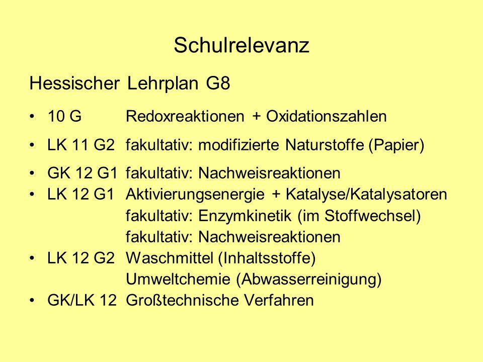Schulrelevanz Hessischer Lehrplan G8