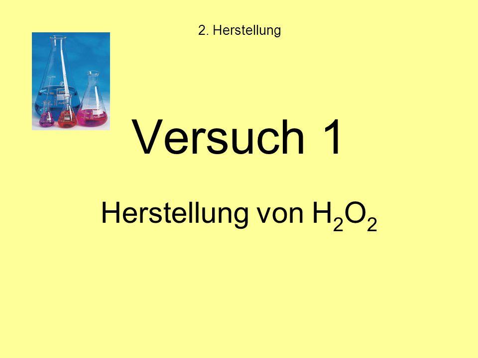 2. Herstellung Versuch 1 Herstellung von H2O2