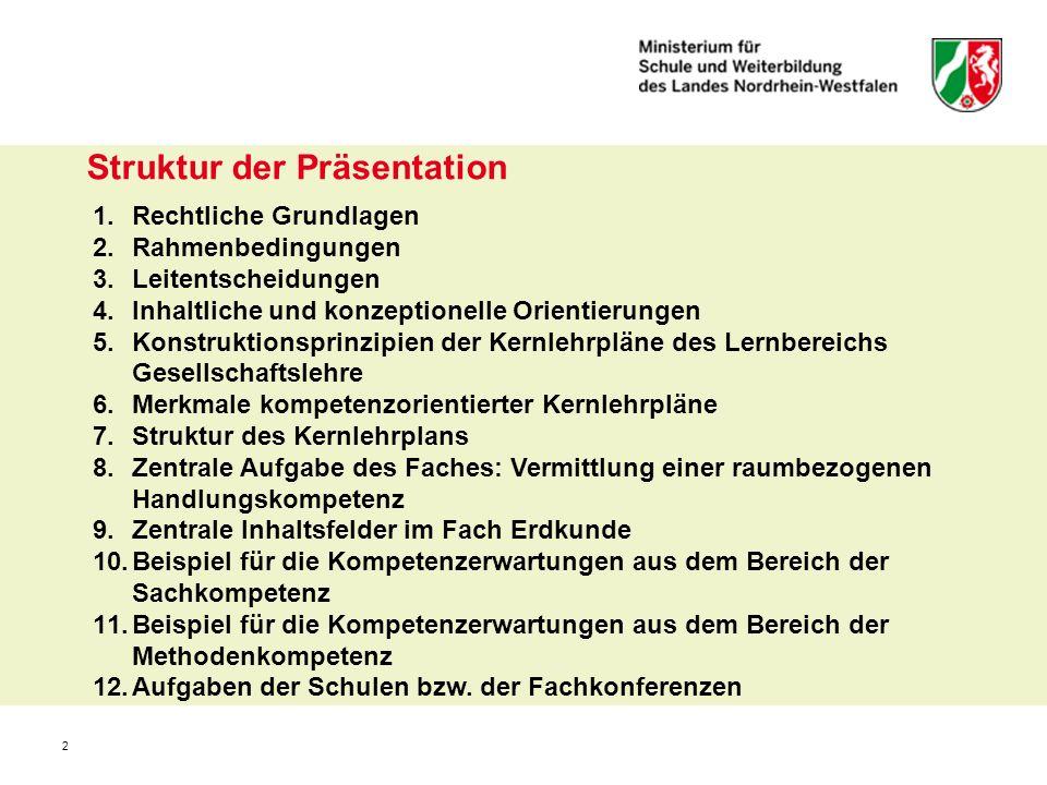 Struktur der Präsentation