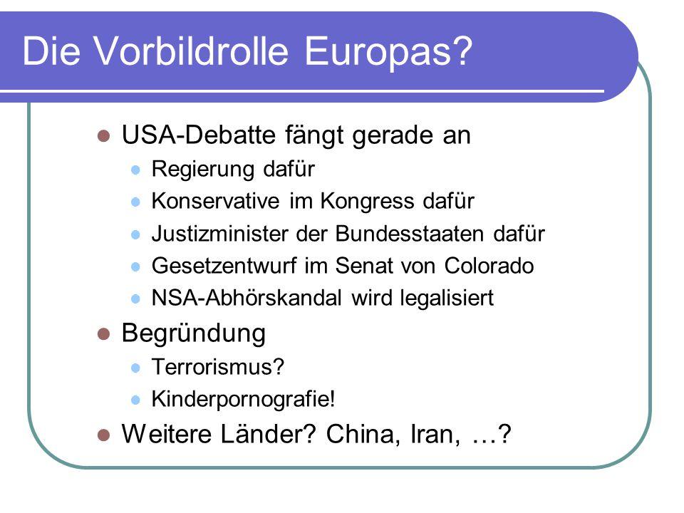 Die Vorbildrolle Europas