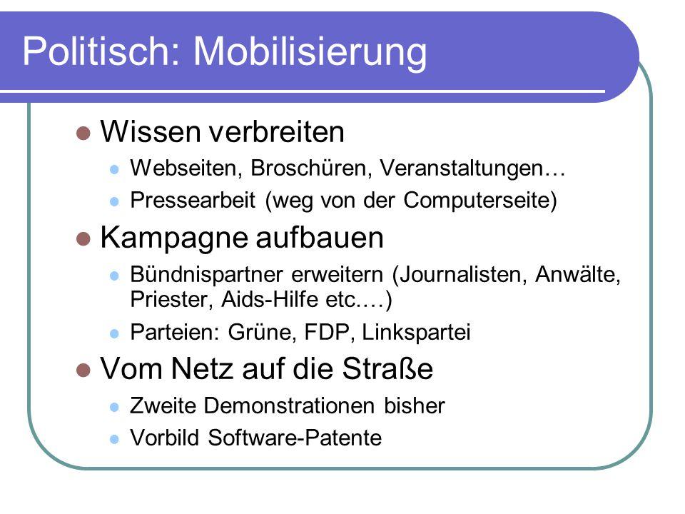 Politisch: Mobilisierung