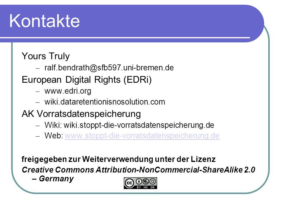 Kontakte Yours Truly European Digital Rights (EDRi)