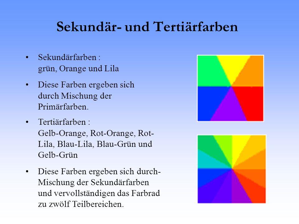 Sekundär- und Tertiärfarben