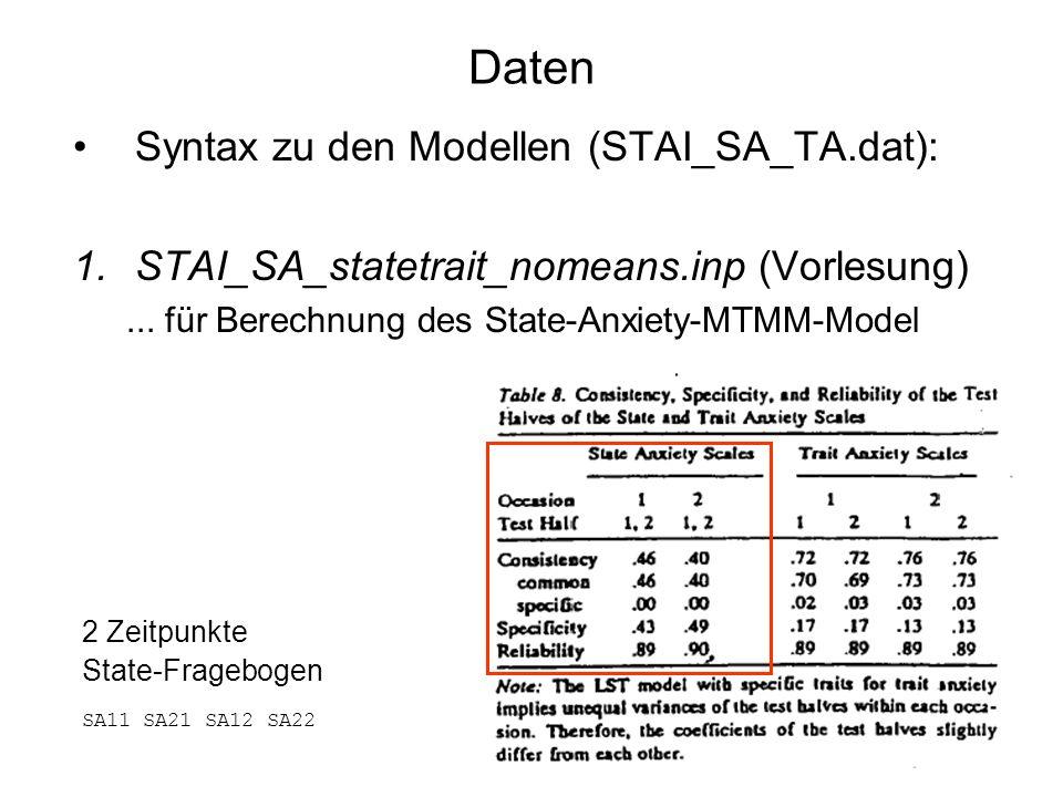 Daten Syntax zu den Modellen (STAI_SA_TA.dat):