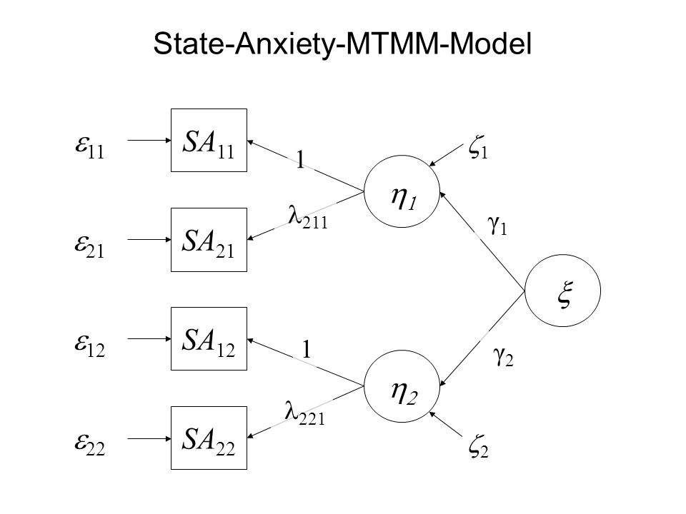 State-Anxiety-MTMM-Model