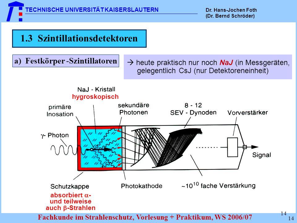 1.3 Szintillationsdetektoren