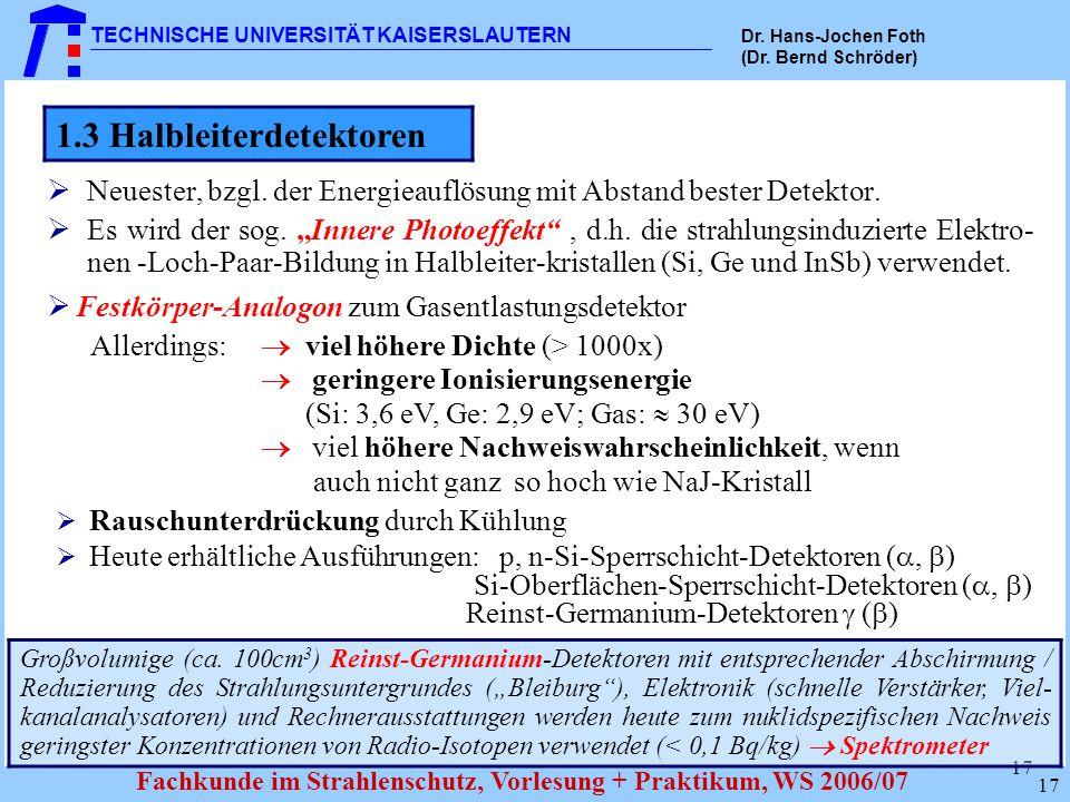 1.3 Halbleiterdetektoren