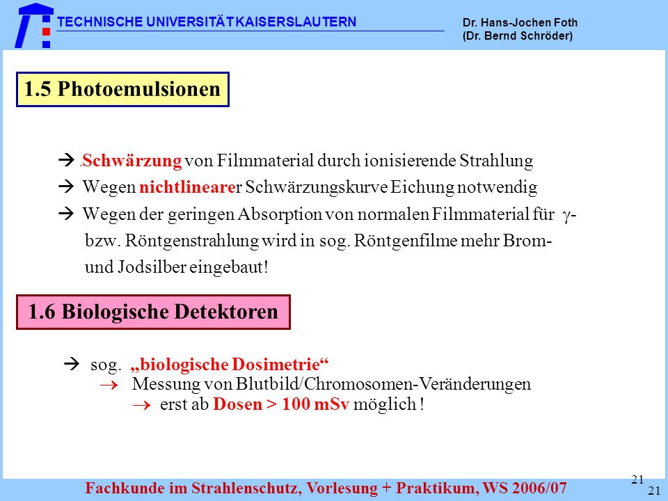 1.6 Biologische Detektoren