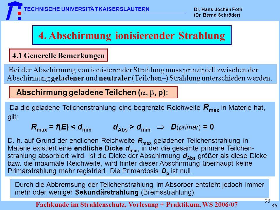 4. Abschirmung ionisierender Strahlung