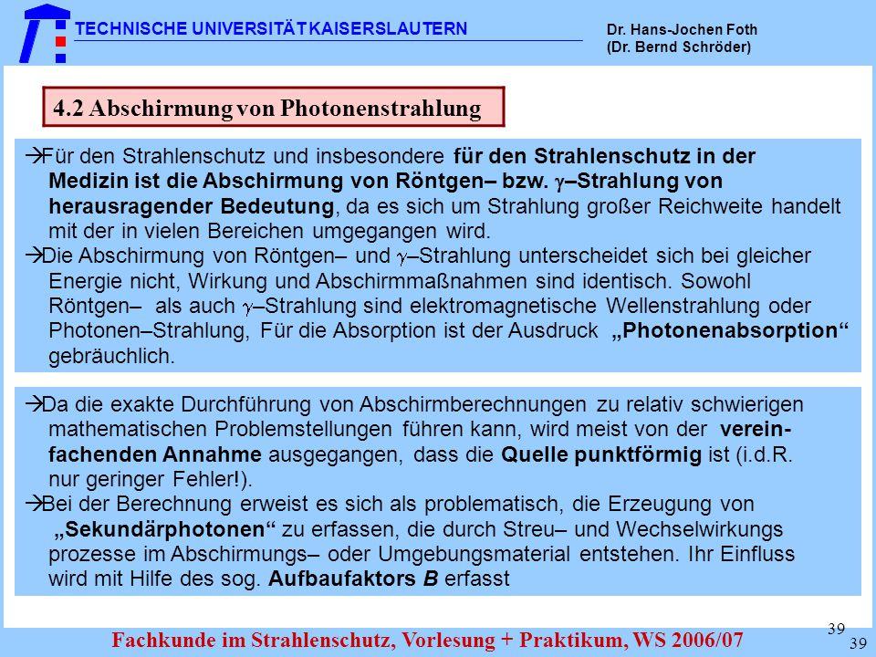 4.2 Abschirmung von Photonenstrahlung