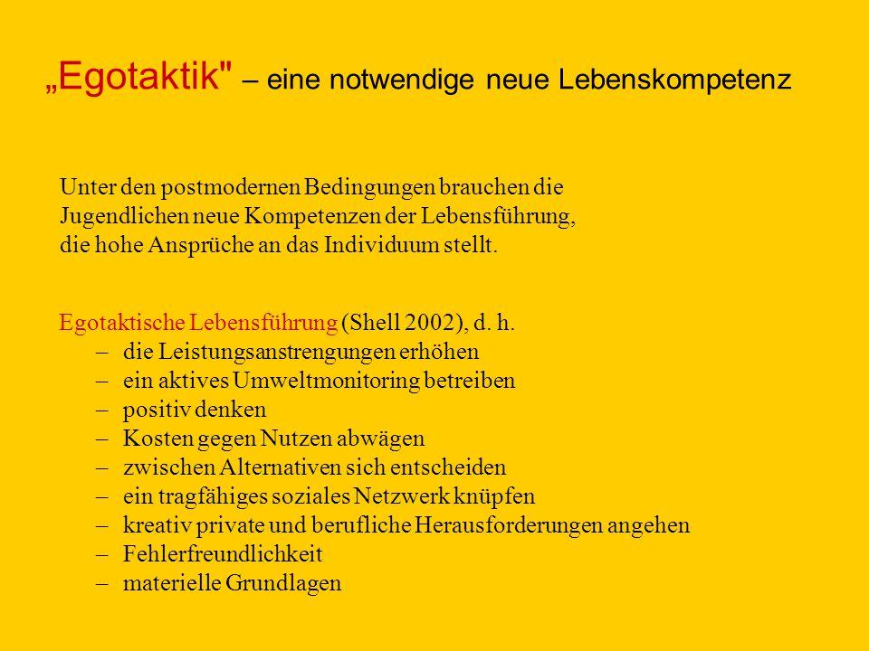 """Egotaktik – eine notwendige neue Lebenskompetenz"
