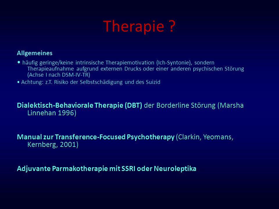 Therapie Allgemeines.