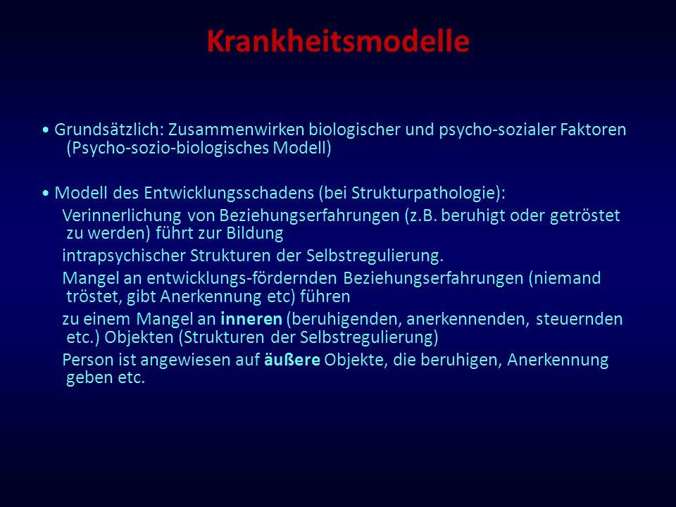 Krankheitsmodelle • Grundsätzlich: Zusammenwirken biologischer und psycho-sozialer Faktoren (Psycho-sozio-biologisches Modell)