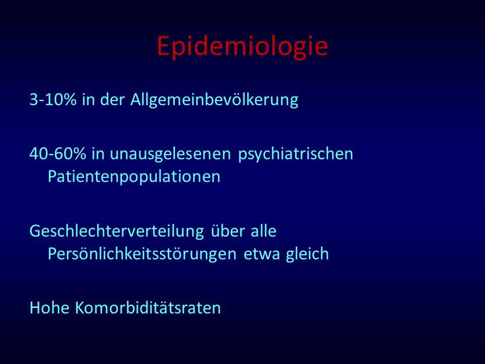 Epidemiologie 3-10% in der Allgemeinbevölkerung