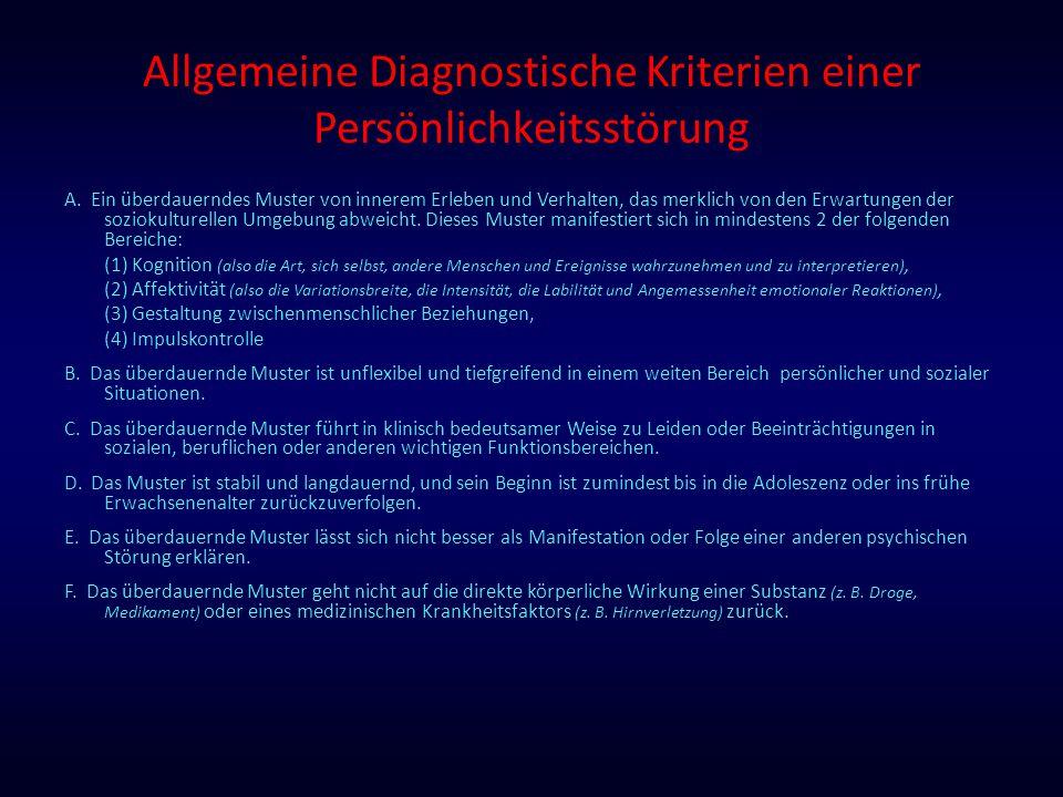 Allgemeine Diagnostische Kriterien einer Persönlichkeitsstörung