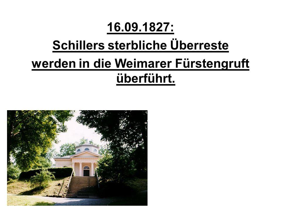 Schillers sterbliche Überreste