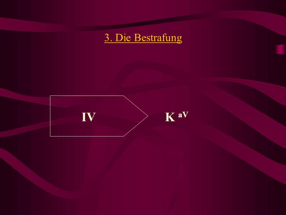 3. Die Bestrafung IV K aV