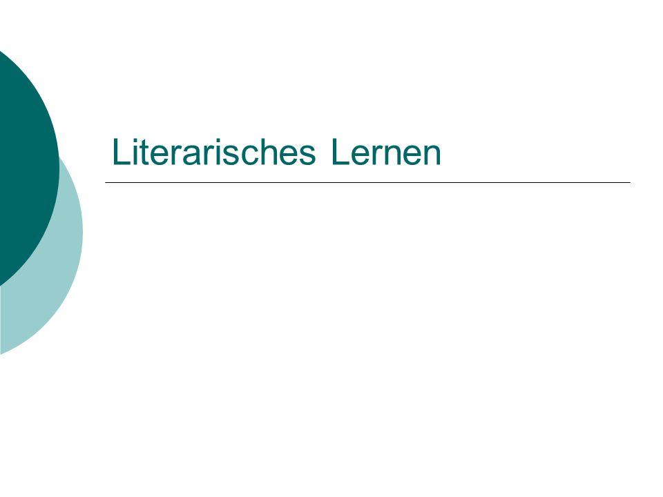 Literarisches Lernen