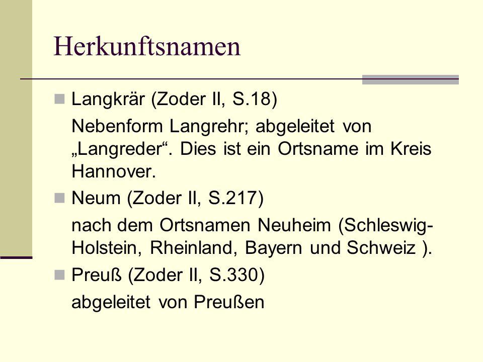 Herkunftsnamen Langkrär (Zoder II, S.18)