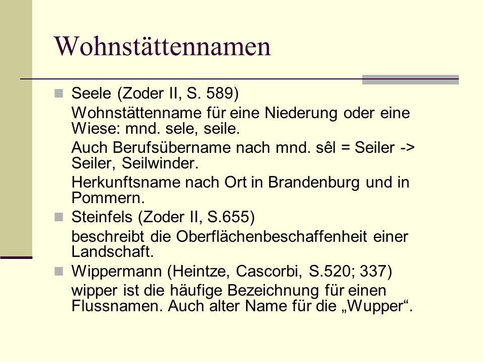 Wohnstättennamen Seele (Zoder II, S. 589)