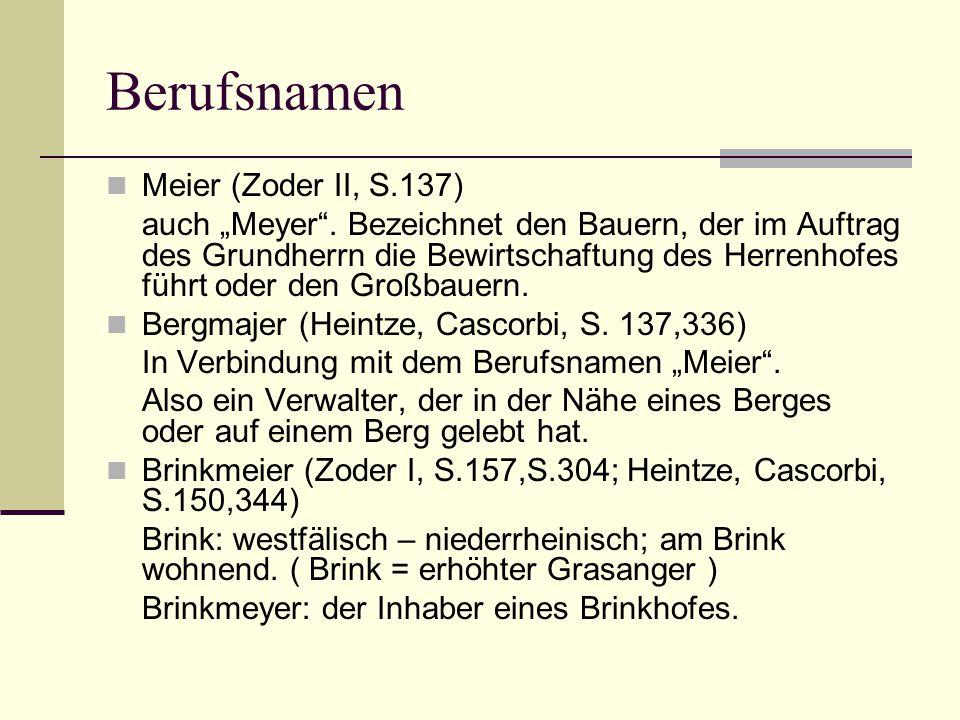 Berufsnamen Meier (Zoder II, S.137)