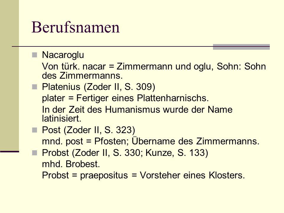 Berufsnamen Nacaroglu