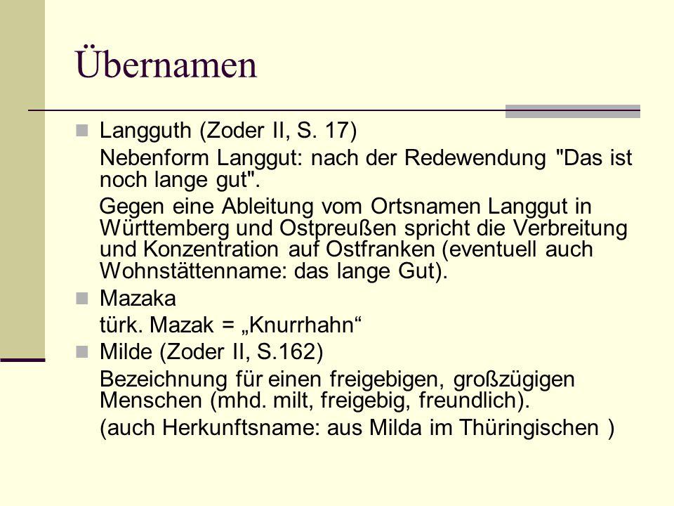 Übernamen Langguth (Zoder II, S. 17)