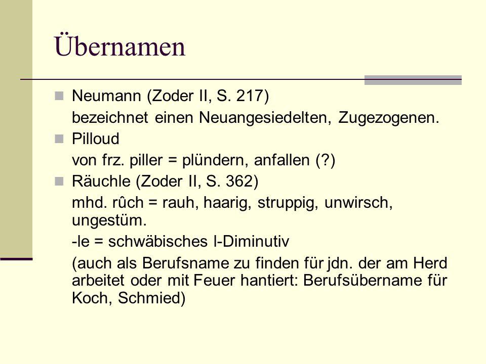Übernamen Neumann (Zoder II, S. 217)