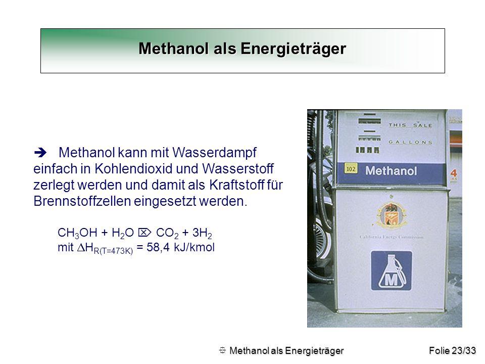Methanol als Energieträger