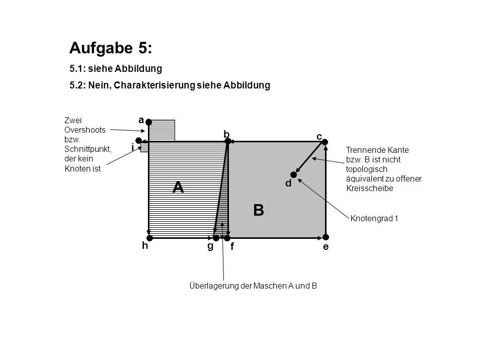 Aufgabe 5: A B a b c i d h g f e 5.1: siehe Abbildung