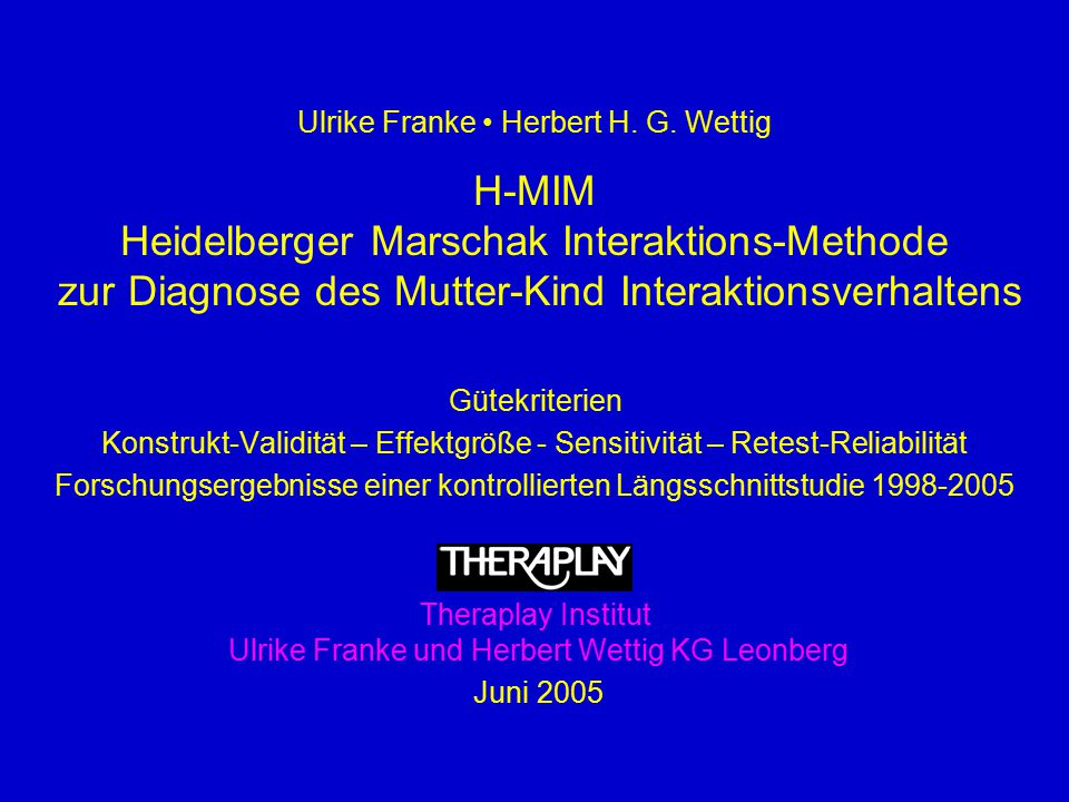 Heidelberger Marschak Interaktions-Methode