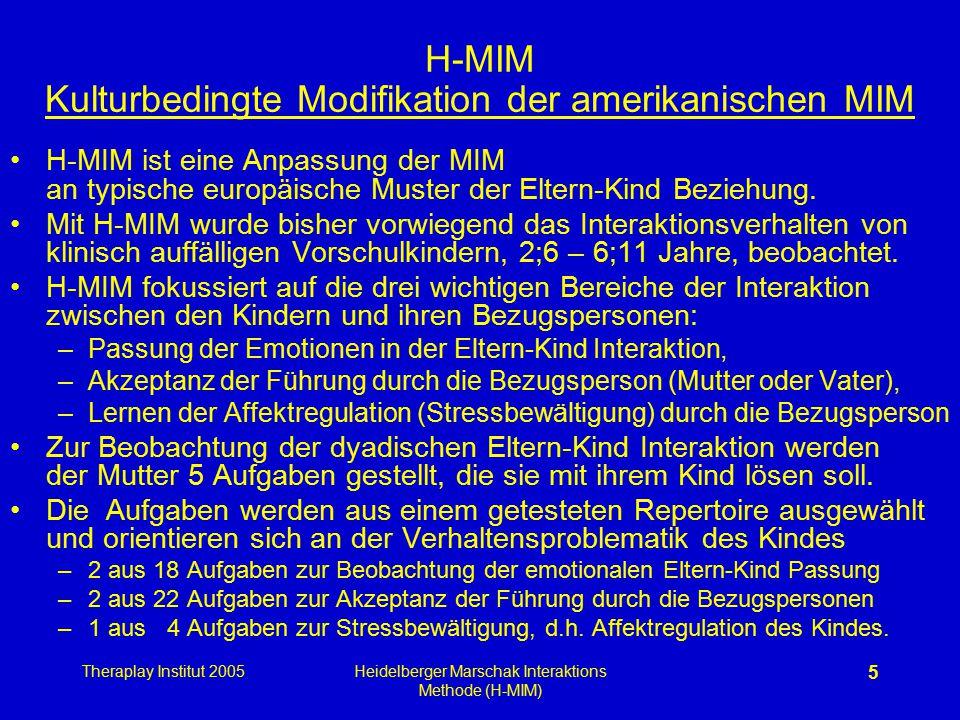 H-MIM Kulturbedingte Modifikation der amerikanischen MIM