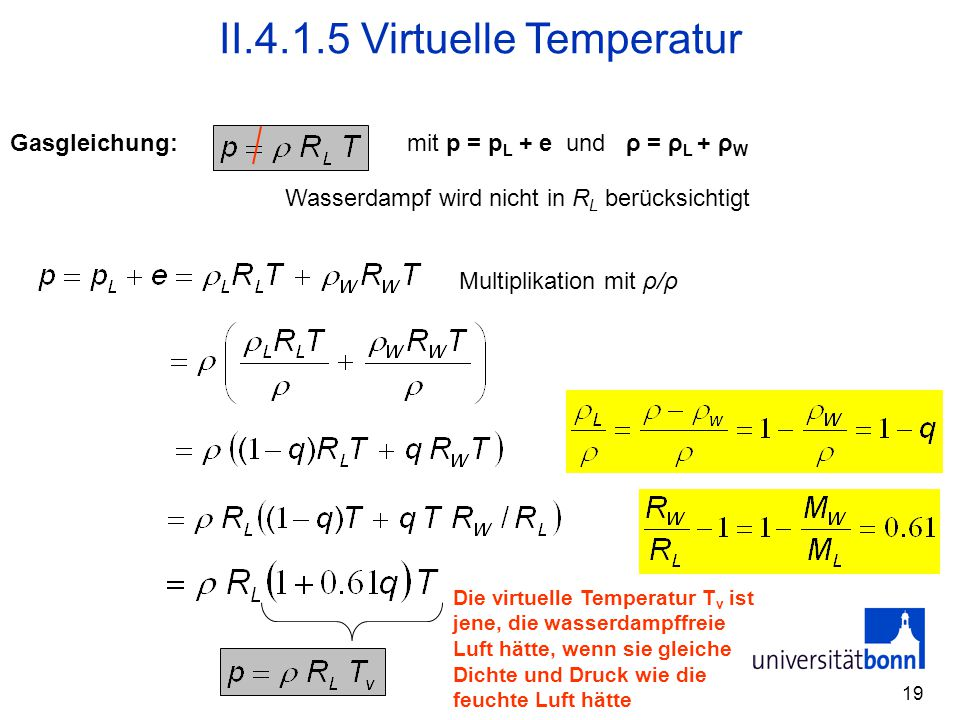 II Virtuelle Temperatur