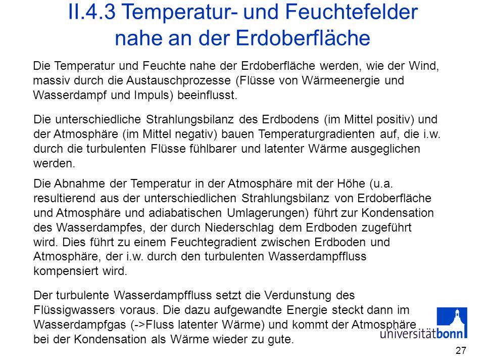 II.4.3 Temperatur- und Feuchtefelder nahe an der Erdoberfläche