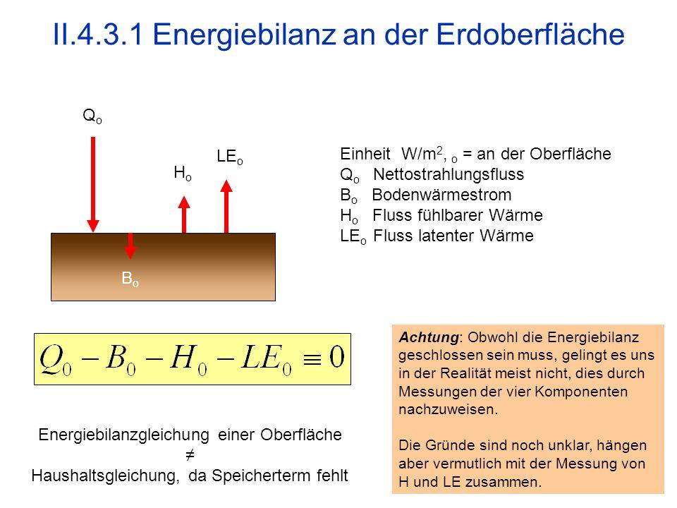II.4.3.1 Energiebilanz an der Erdoberfläche