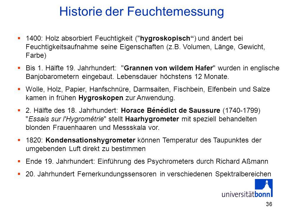 Historie der Feuchtemessung