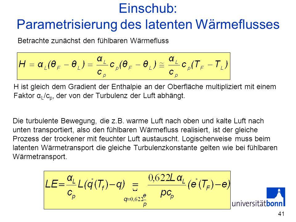 Parametrisierung des latenten Wärmeflusses
