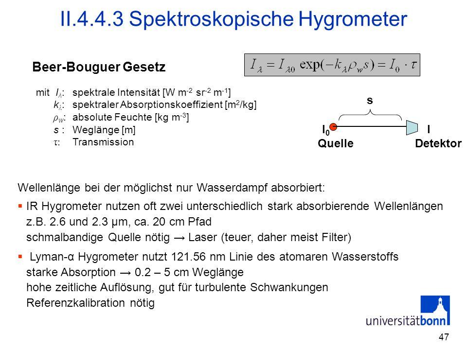 II.4.4.3 Spektroskopische Hygrometer