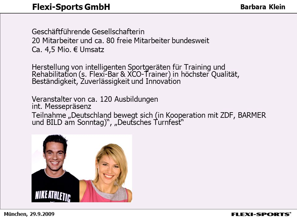 Flexi-Sports GmbH Geschäftführende Gesellschafterin