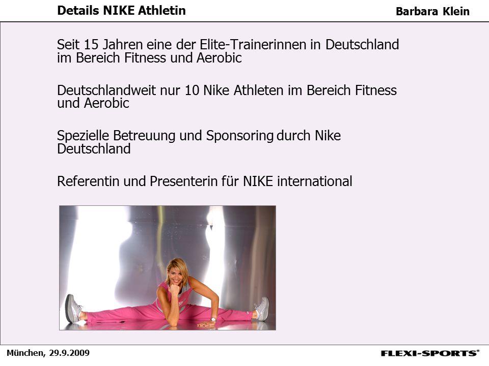 Deutschlandweit nur 10 Nike Athleten im Bereich Fitness und Aerobic