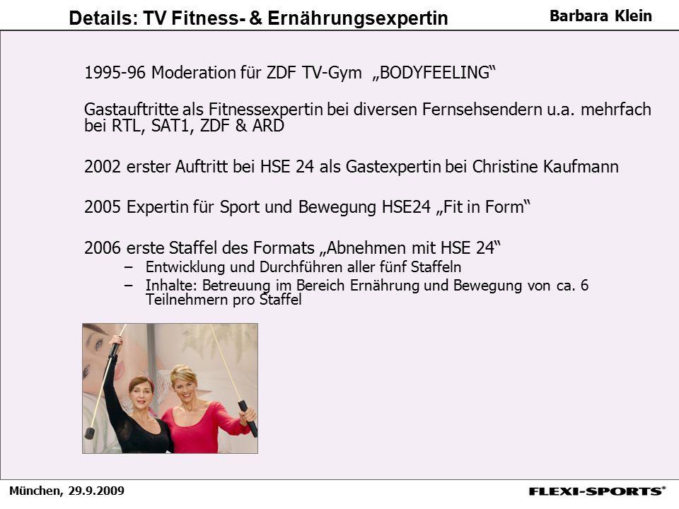 Details: TV Fitness- & Ernährungsexpertin