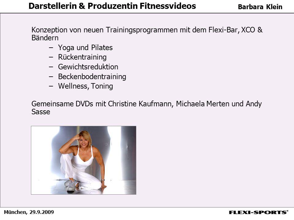 Darstellerin & Produzentin Fitnessvideos