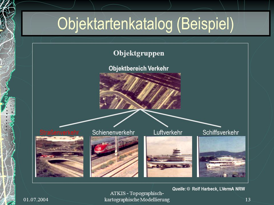 Objektartenkatalog (Beispiel)